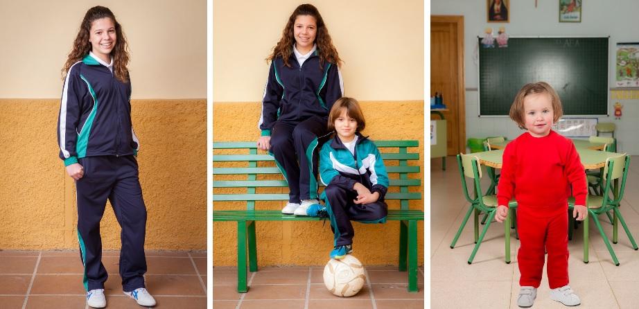 fotos de niños con uniforme deportivo equipación deportiva